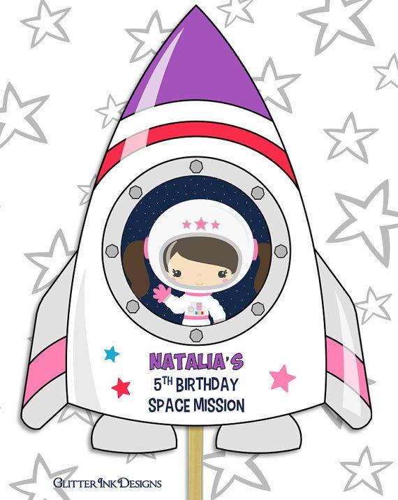 astronaut party printables - 570×716