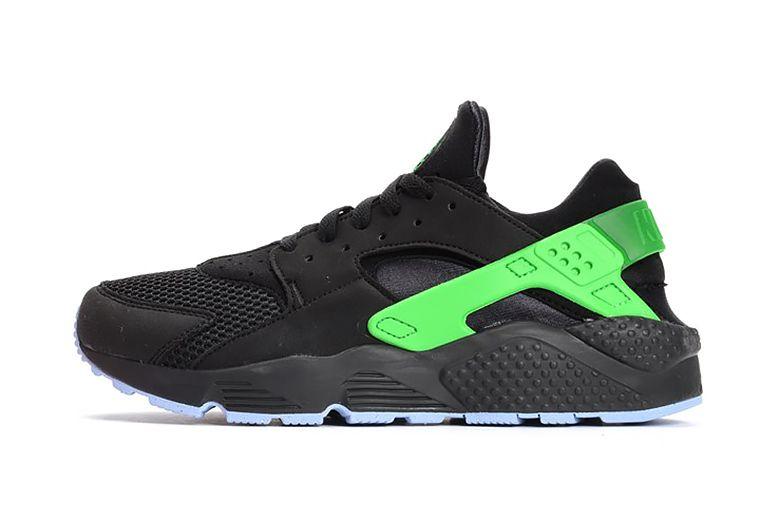 super popular f8265 5dc1e Nike Air Huarache Run FB BlackPoison Green
