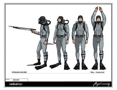 archer character sheet | designer illustrator online ad for archer model sheets for archer