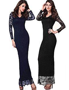 Vestidos ( Renda ) MULHERES - Casual/Renda Decote em V