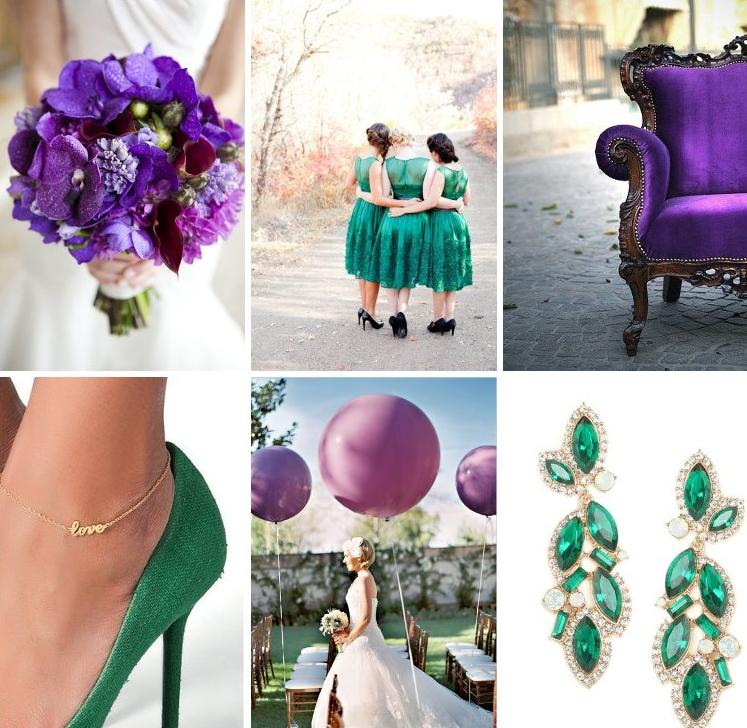 Purple And Green Wedding Ideas: Emerald Green And Purple Wedding Inspiration Board