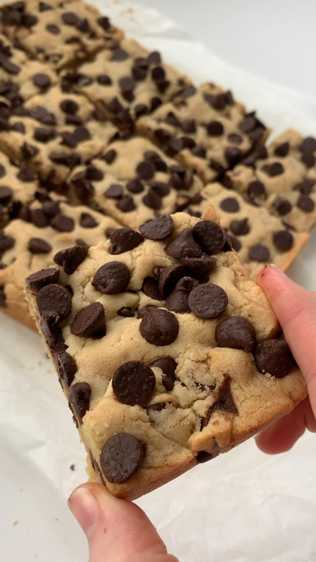 LOADED Chocolate Chip Cookie Bars 🍪