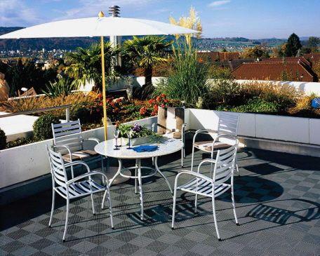 Balkon Mit Bodenplatten Typ Rip Tec Aus Kunststoff Balkonplatte