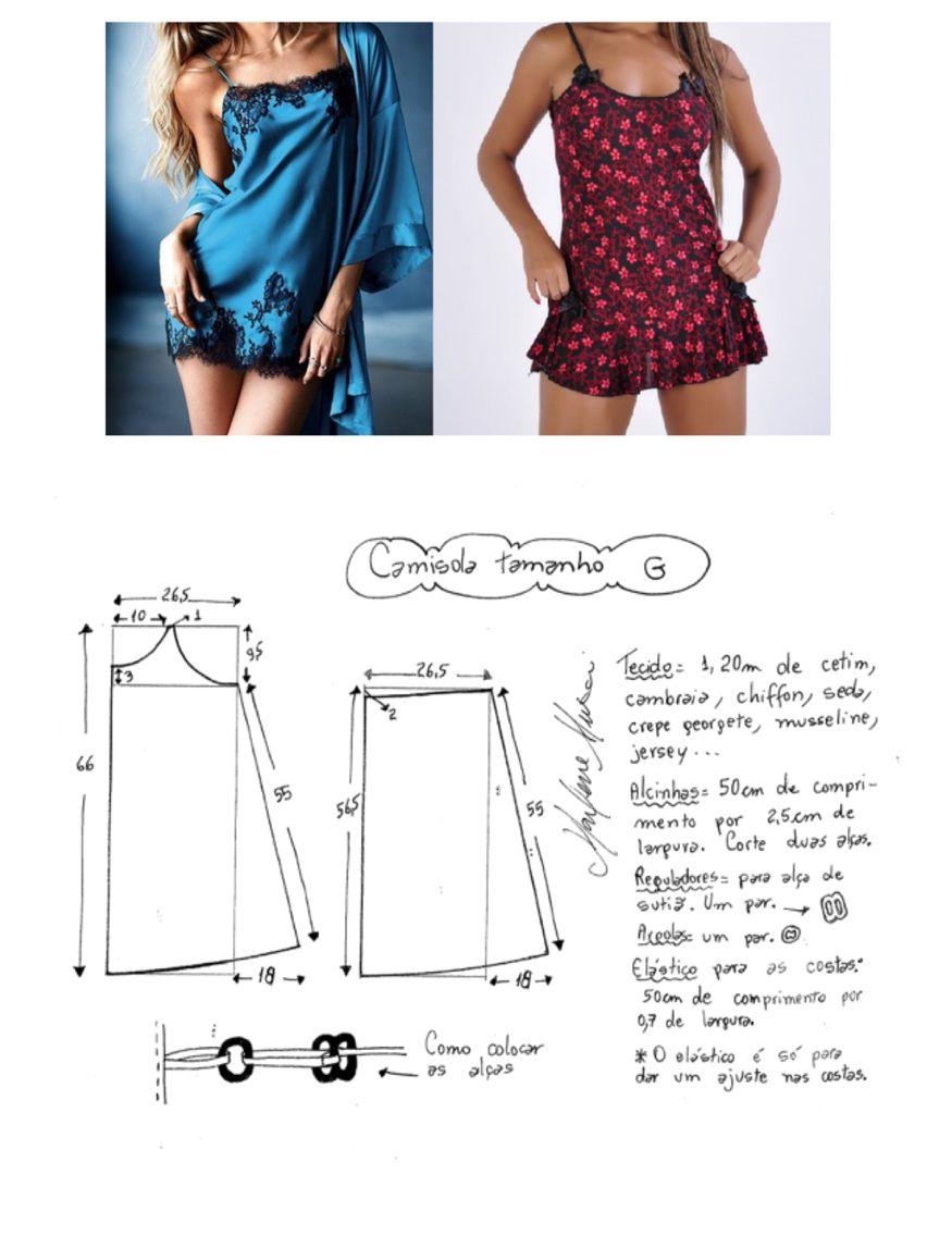 Camisol | Costura | Pinterest | Pijama, Patrones y Costura