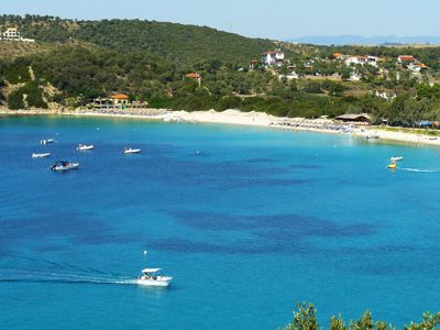 Alykes Beach Ammouliani Island Greece travel destination
