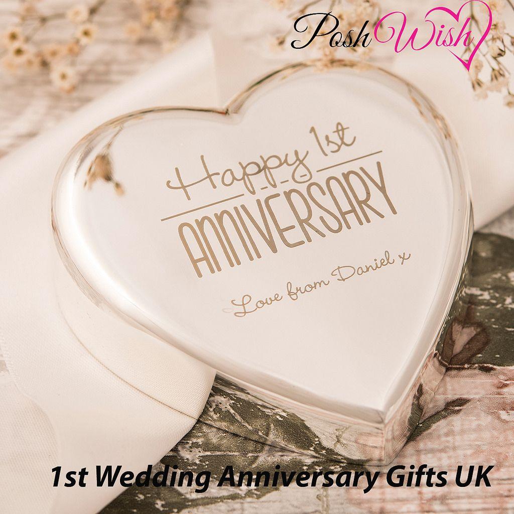 1st Wedding Anniversary Gifts UK Wedding anniversary