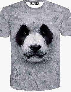Men's Fashion 3D Printing Short Sleeve T-Shirts – GBP £ 8.02