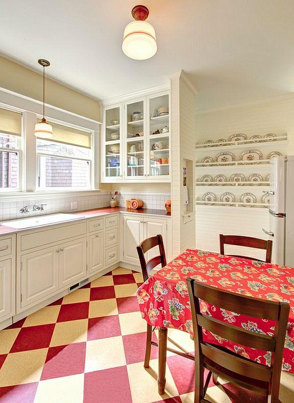Retro Küche - die neuen, alten Kücheneinrichtung Trends für 2014 ...