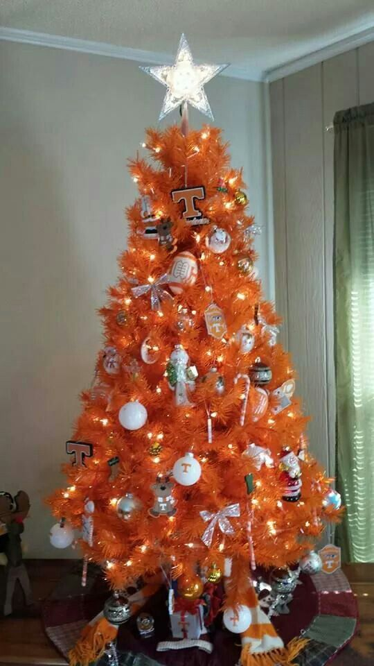 Tennessee Christmas This Will Be My Tree Next Year Tennessee Christmas Orange Christmas Tree Orange Christmas