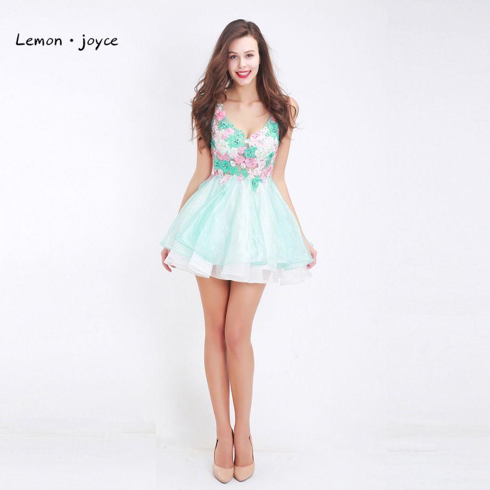 Click to buy ucuc light green mini homecoming dresses vneck