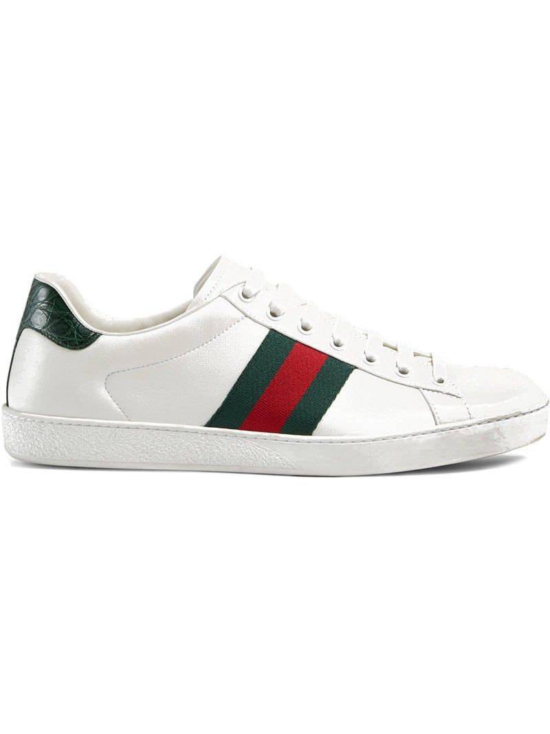 8ac0b281b Gucci Snake Sneakers, Gucci Shoes, Leather Sneakers, Shoes Sneakers, Gucci  Men, Gucci Gucci, White Leather, Casual Shoes, Trending Fashion
