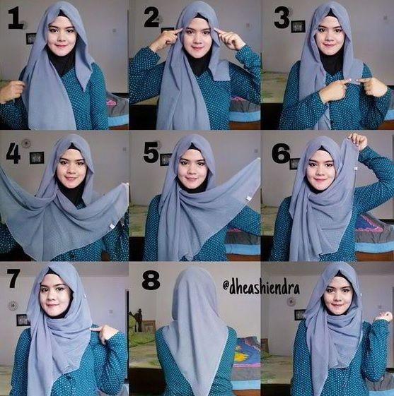 Tutorial Jilbab Segi Empat Buat Ke Pesta Tutorial Hijab Mudah Hijab Gaya Hijab