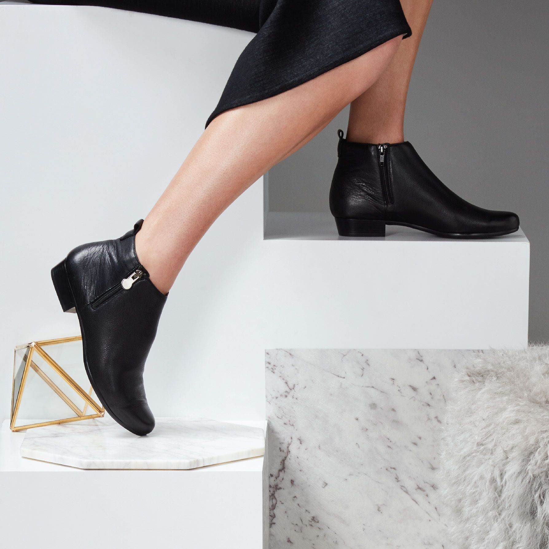 e1a32bba5 One of this season's quintessential ankle boots 'LEXI' by Munro in black  leather. Munro shoes are available in Narrow, Medium, Wide and Extra Wide  fittings.