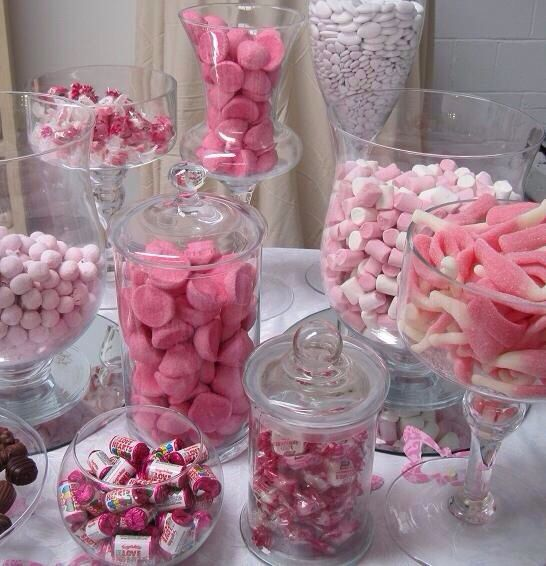 Table Favours Pink Candy Buffet Pink Candy Bar Candy Bar Wedding