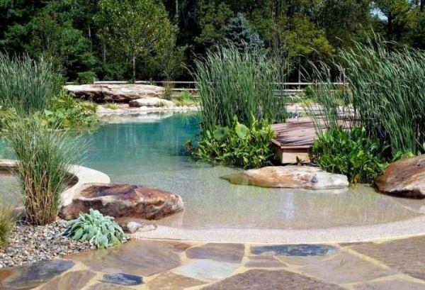 schwimmteich neigung strand hnlich natursteine garten pinterest garten teich und schwimmen. Black Bedroom Furniture Sets. Home Design Ideas