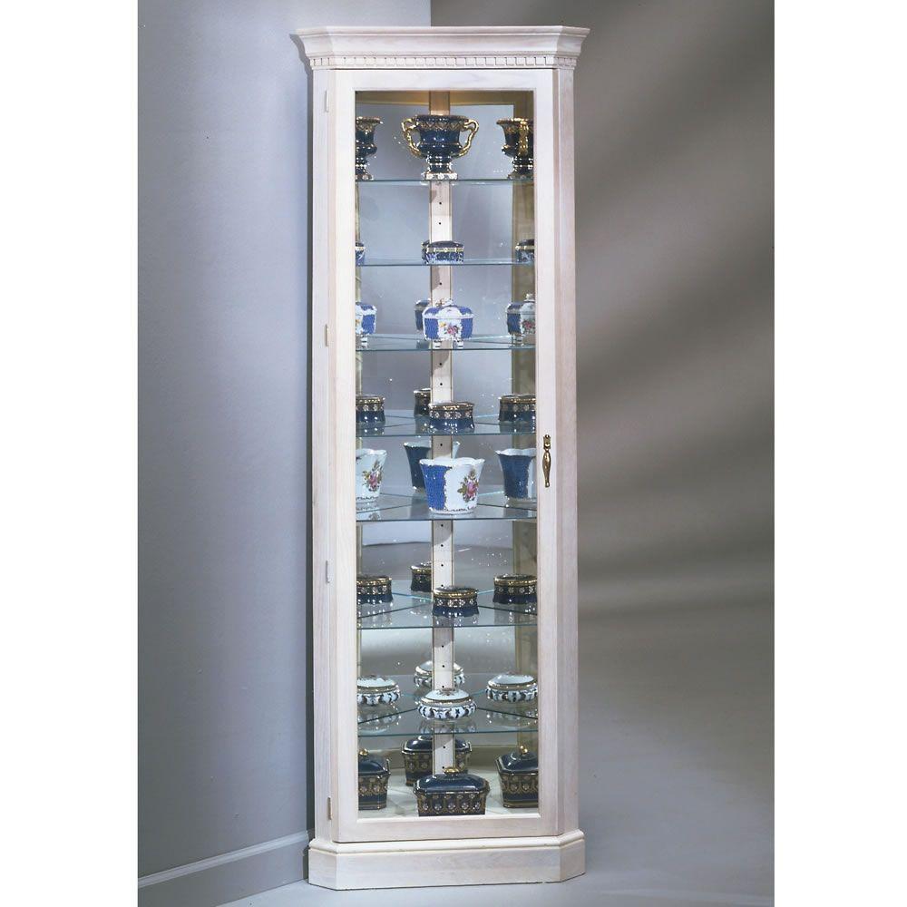 White Corner Curio Cabinet Furniture Modern Furniture Design
