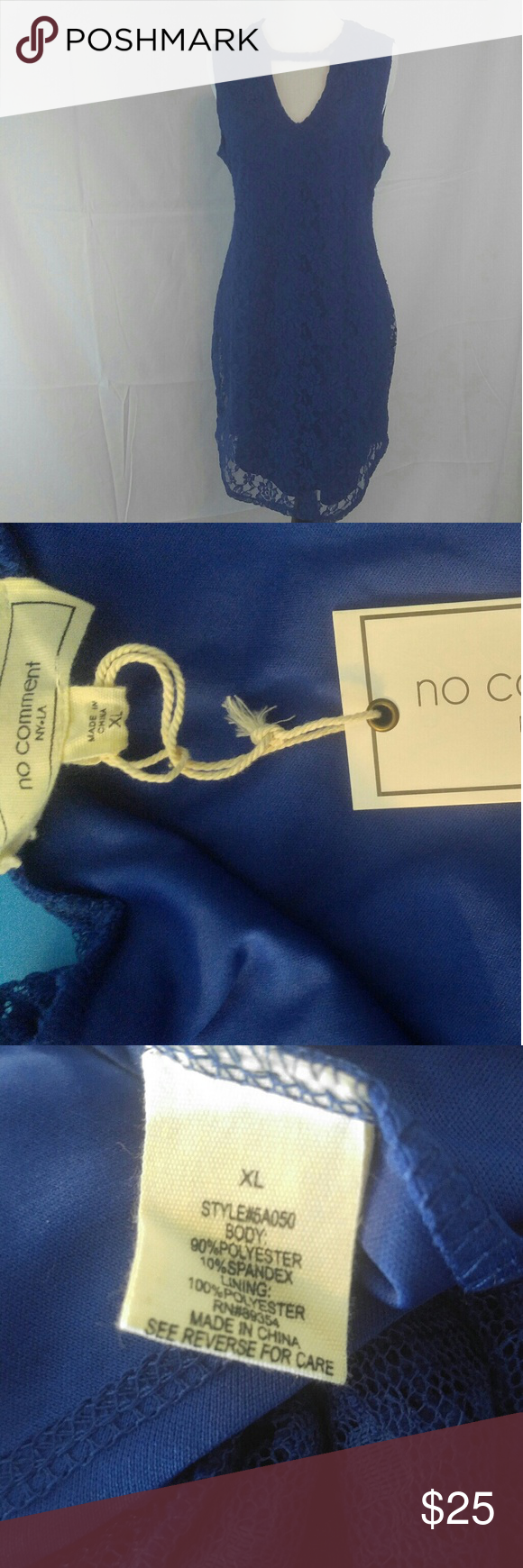 Royal blue lace dress styles  Royal Blue Lace Dresssize XL NWT  My Posh Picks  Pinterest