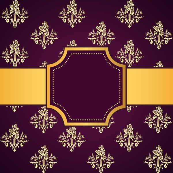 f6e75b69e25b Purple decoration pattern background with golden frame vector 03 -  WeLoveSoLo