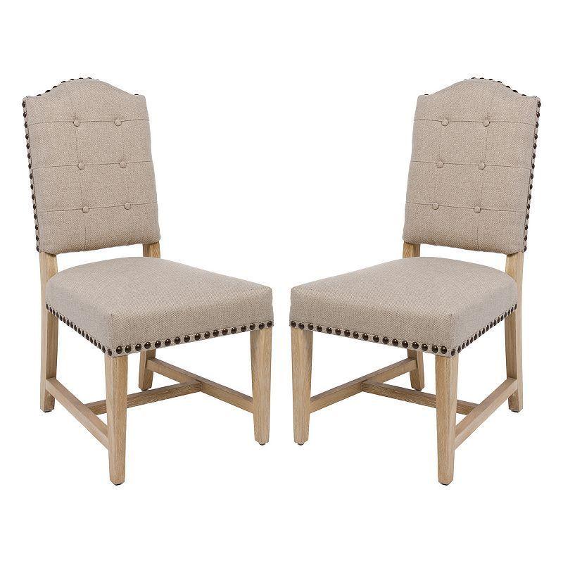 Safavieh Penny Accent Chair 2-piece Set, Beig/Green (Beig/Khaki)