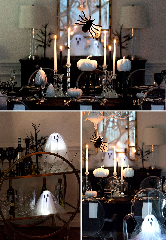 19 Spooky Black and White Halloween Decor Ideas