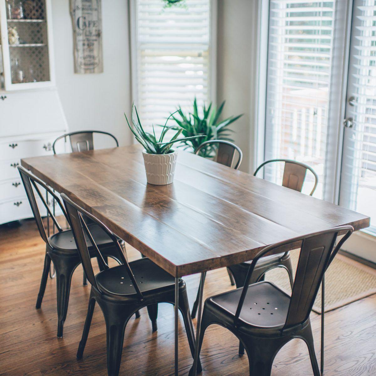 Hairpin Leg Kitchen Table Diy Diy Dining Room Table Diy Kitchen Table Kitchen Table Wood