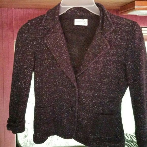 Black Sparkly Blazer Never worn, bought it too small, very soft material dream out loud Jackets & Coats Blazers