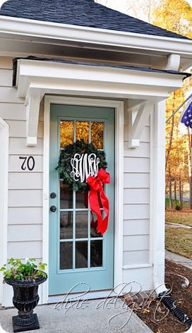 Deck the Halls 2013 | Front door awning, Door overhang ...