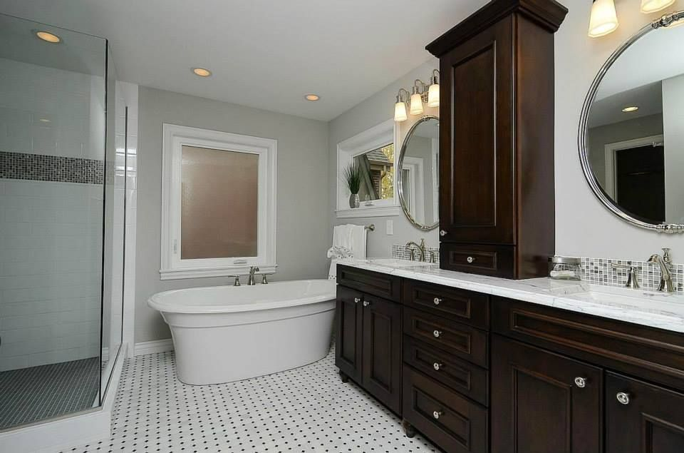 BKC Kitchen And Bath Master Bath Remodel Mid Continent Cabinetry - Gilbert bathroom remodeling