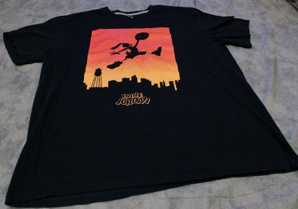 5a2847aaf693 Nike Air Hare Jordan T Shirt Sz XL Cotton Graphic Michael Bugs Bunny  Basketball  Jordan  GraphicTee
