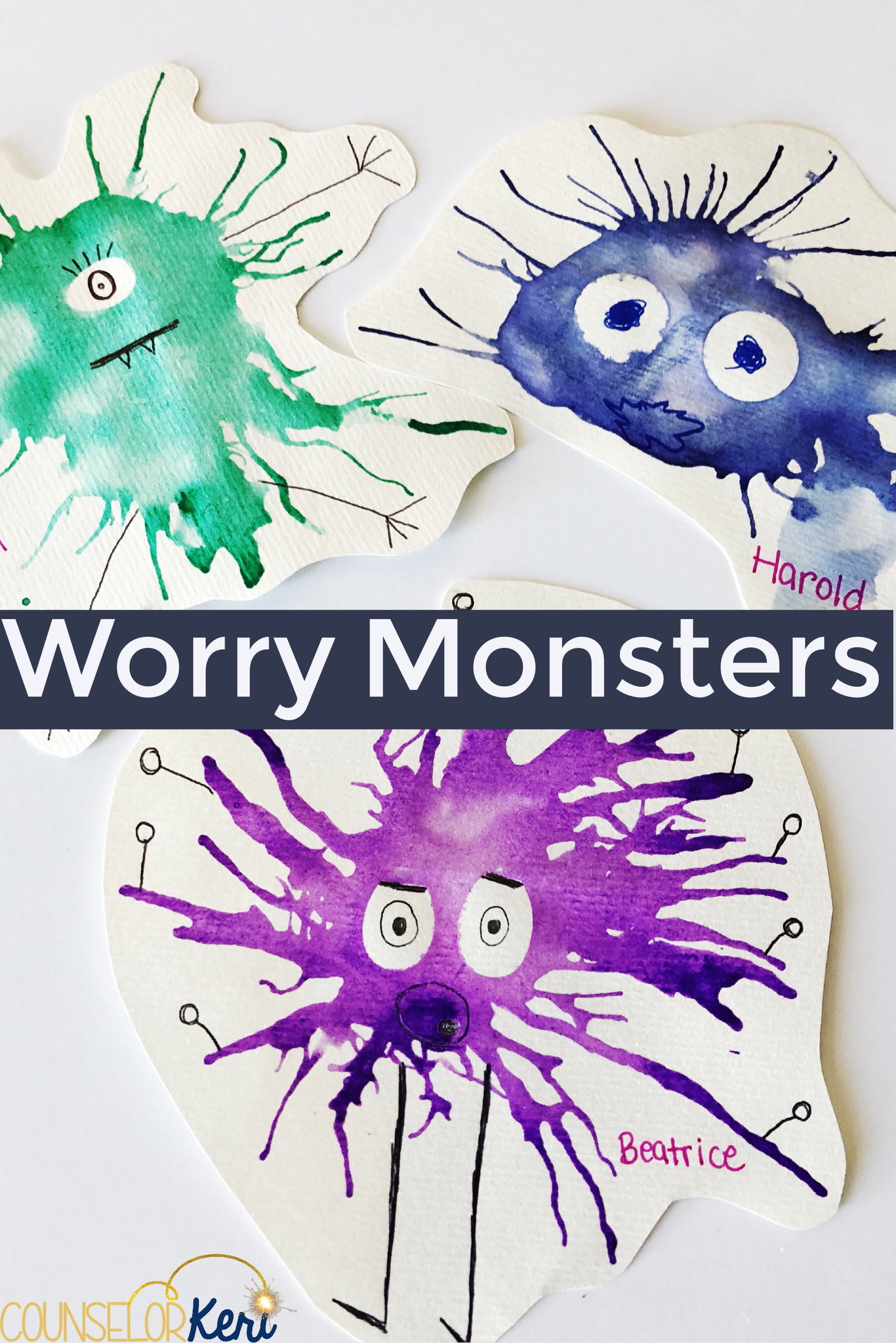 Worry Group Art Activity Make Worry Monsters With Deep