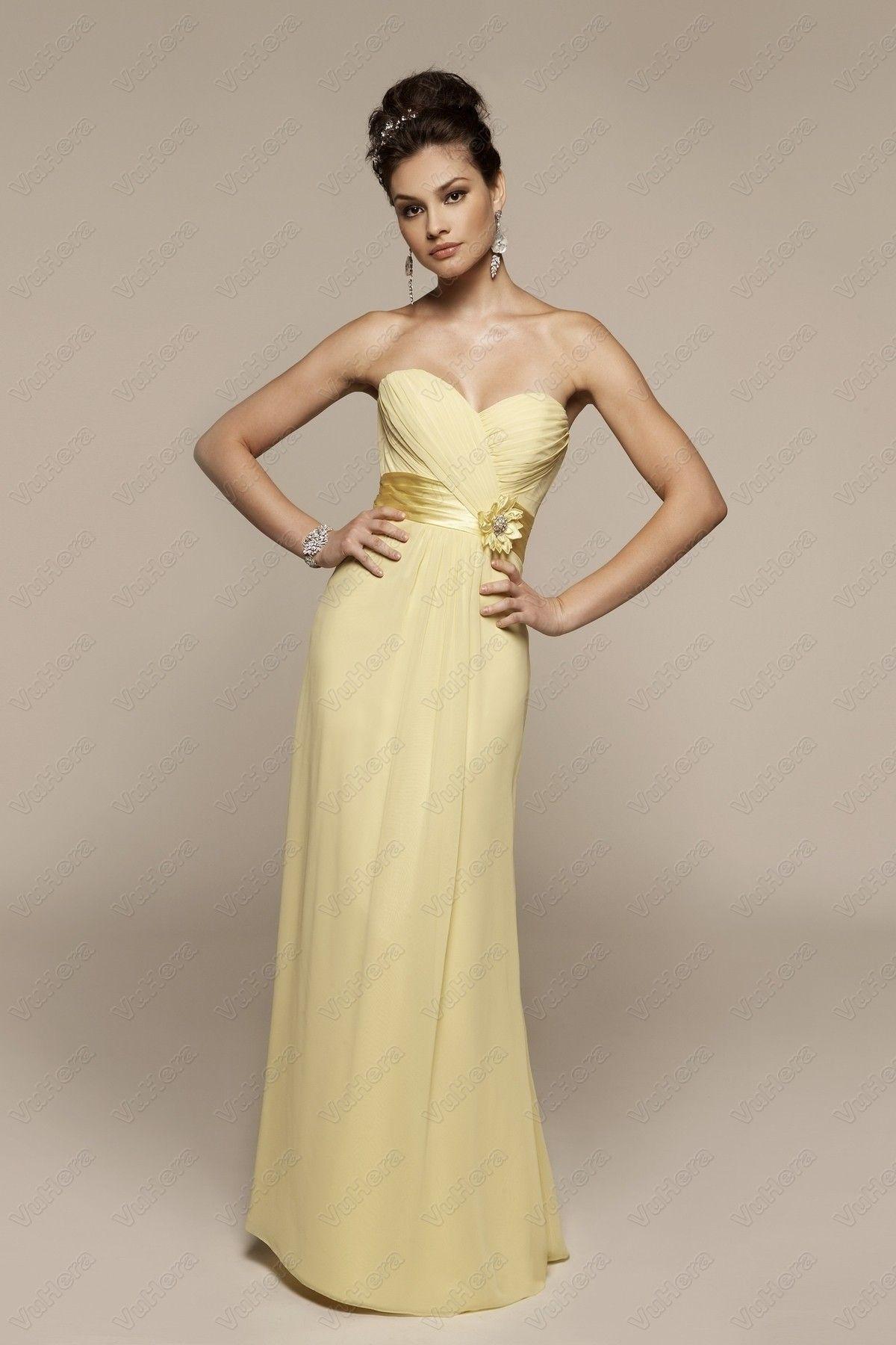 Chiffon strapless draped long prom dress prom dresses pinterest