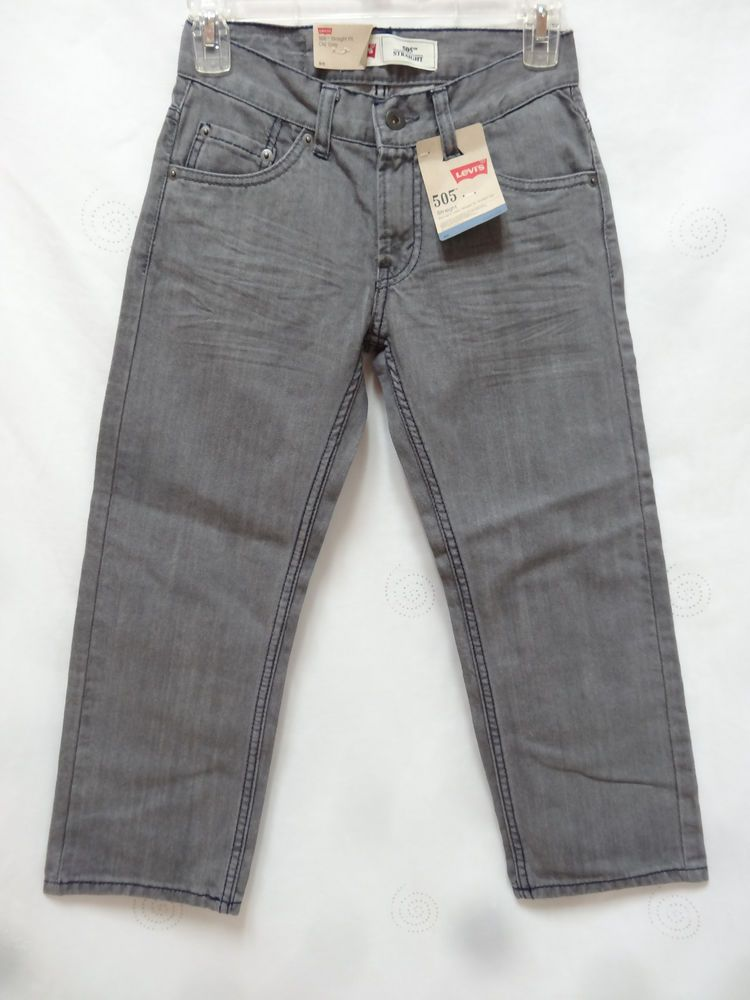 2fc08d96041 Levis boys 505 Straight fit straight leg grey cotton jeans 8 reg 24x22 NEW # Levis #straight #Everyday