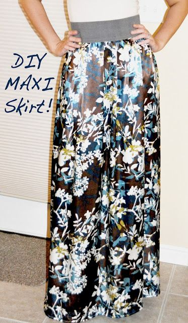 There's no denying-- the maxi skirt is making a comeback in a big way! Thanks to individualrivalry..., you can now make your own!