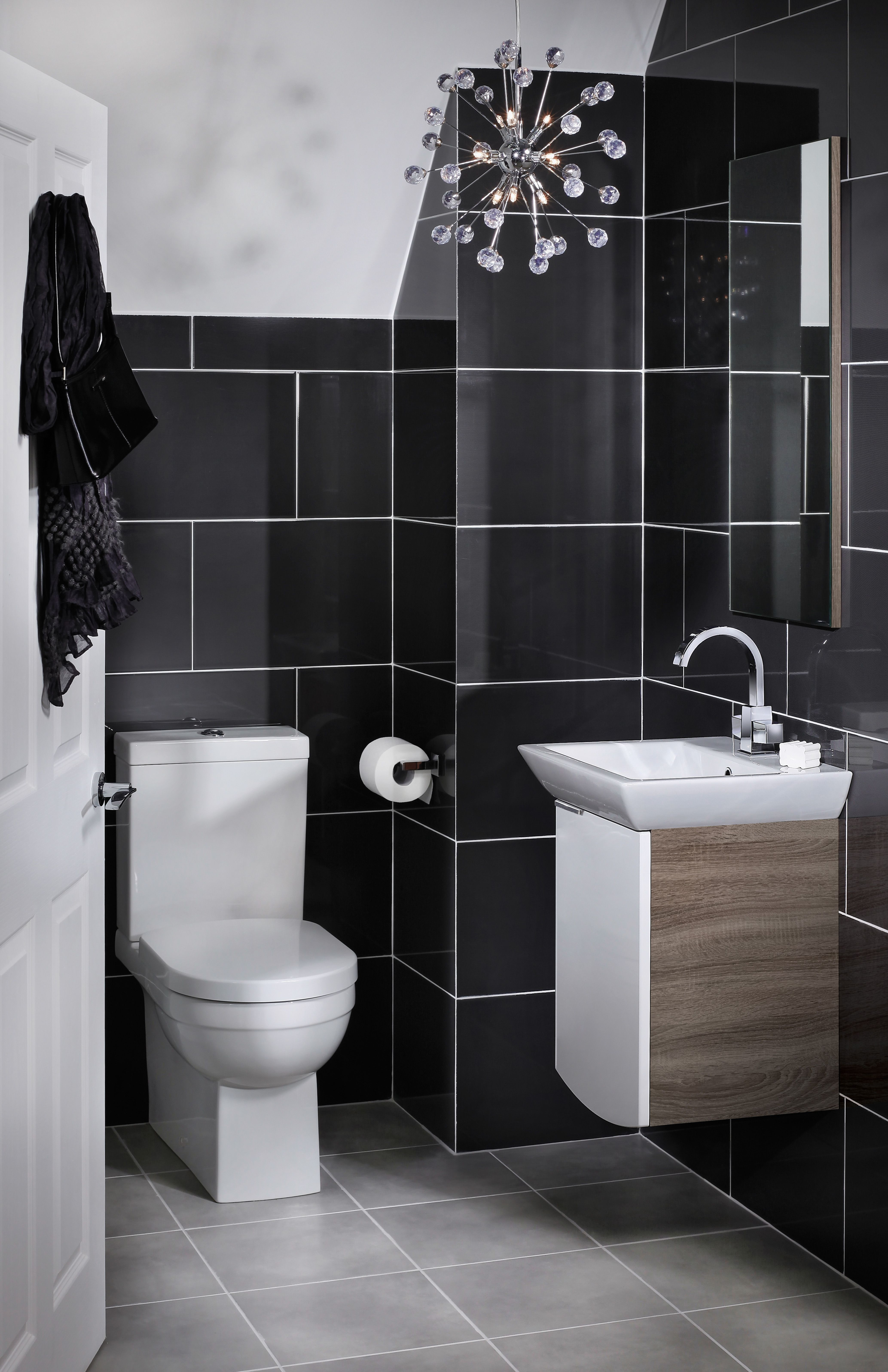 White and wood bathroom furniture from utopia bathrooms autumn