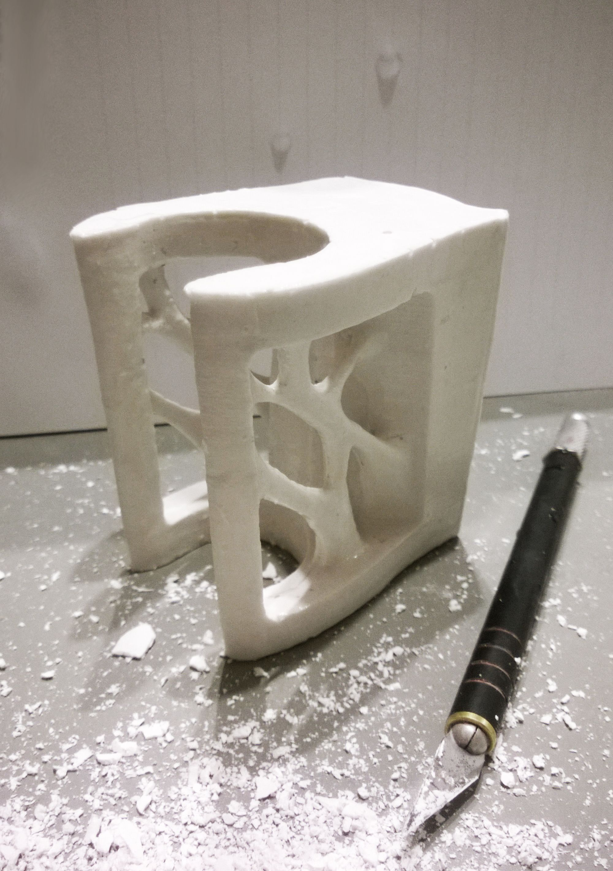 Working On A New Wall Mount For The Concrete Baseball Bat Piece Mold Making
