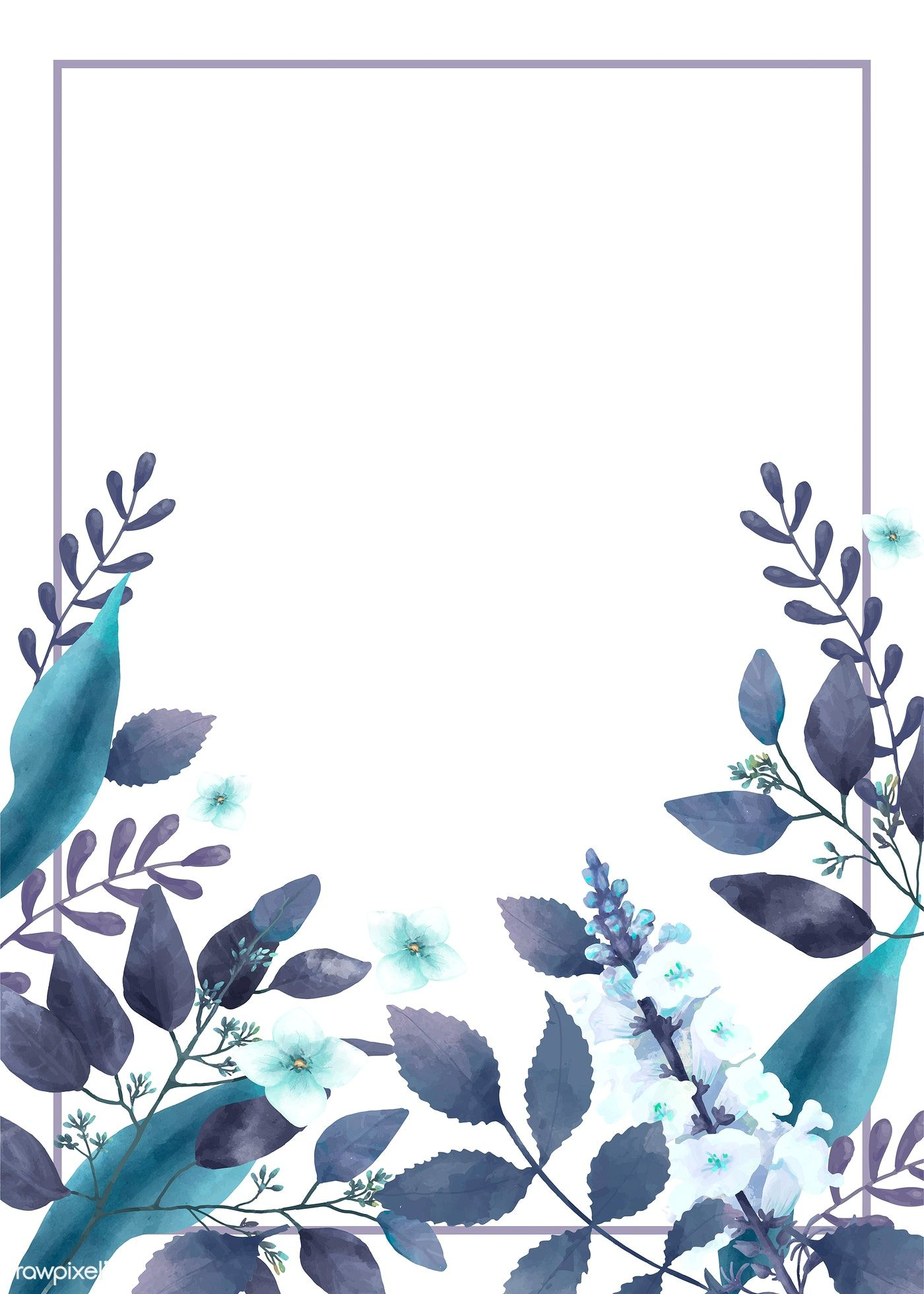 Download Premium Vector Of Blue Themed Greetings Card With