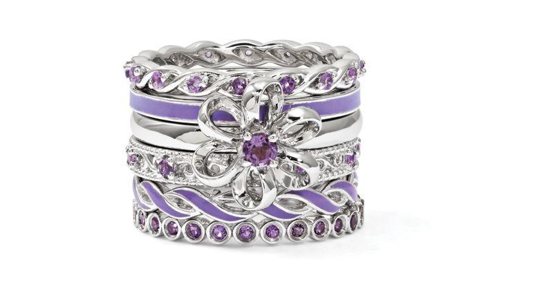 @stackableexpres Violet Ring Stack