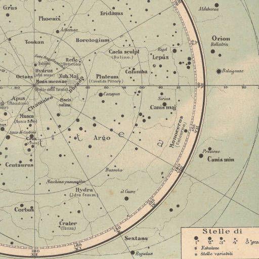 Cielo stellato settentrionale. Cielo stellato meridionale / Francesco Vallardi :: Mapes del món i de grans regions (s.XVI-XX)