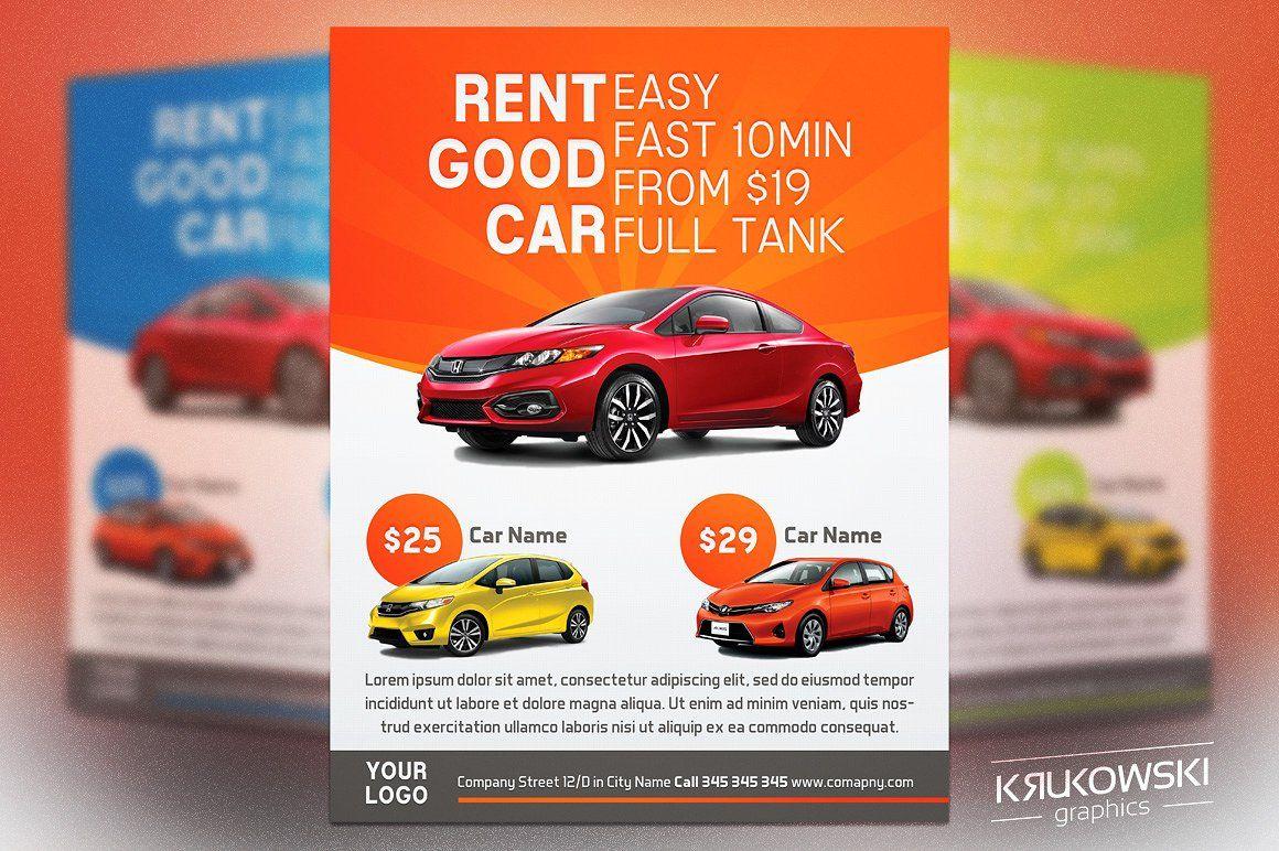 Car Rental Flyer Template Flyer Template Flyer Templates