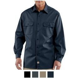 CARHARTT camicia Fort SOLID Long Sleeve Shirt Black Chambray