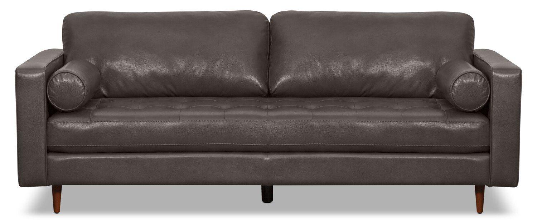 Zuri Leather-Look Fabric Sofa – Grey in 2019   Furniture ...