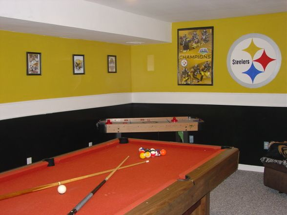 Steelers Themed Gameroom Steelers Bedroom Man Cave Home Bar Man Cave