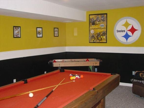 Steelers Bedroom Ideas steelers bedroom painting ideas | steelers themed gameroom