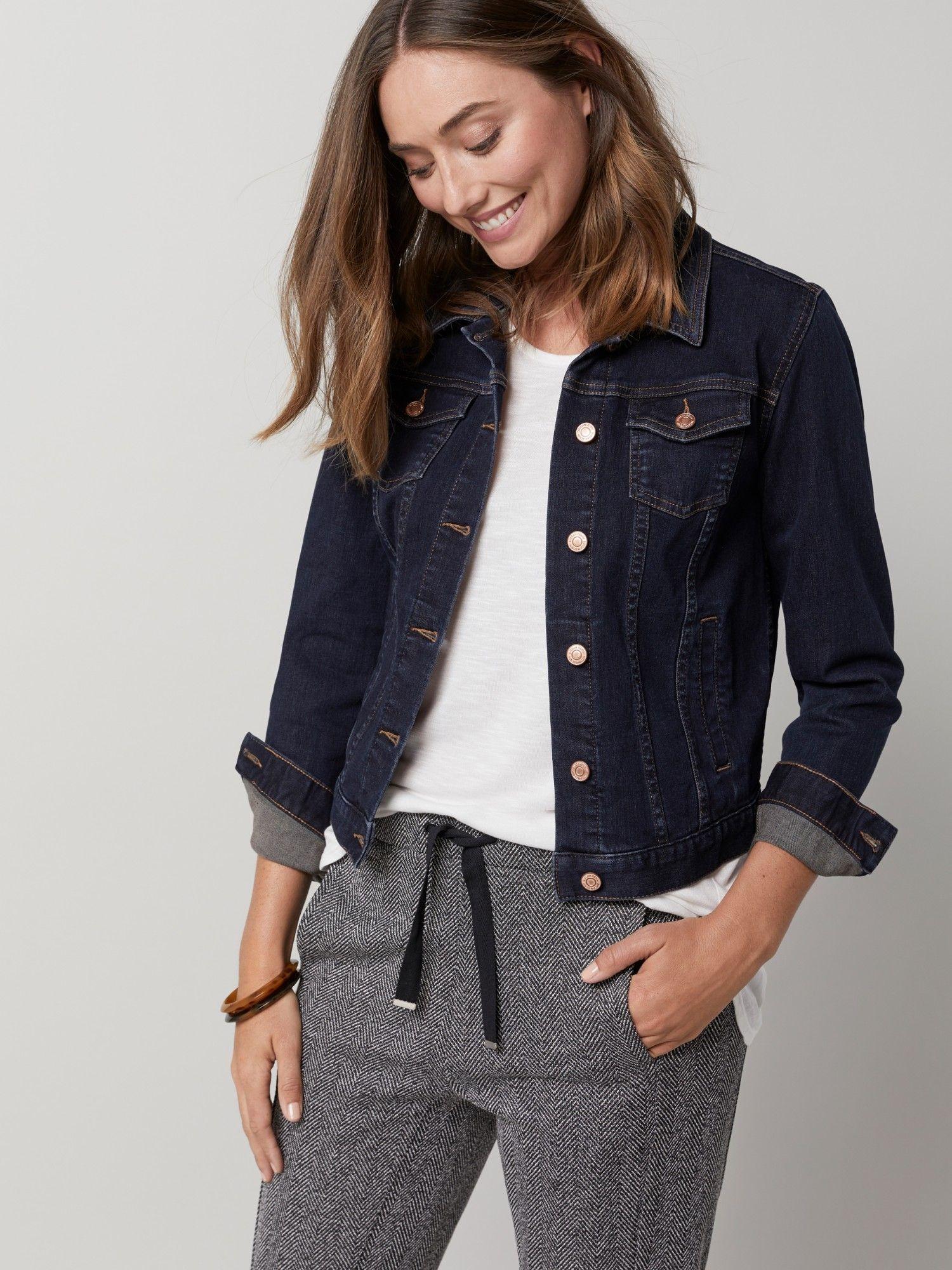 Lookbook Feb 2019 Look 11 Dark Denim Jacket Fashion Dark Denim Jacket Outfit [ 2000 x 1500 Pixel ]