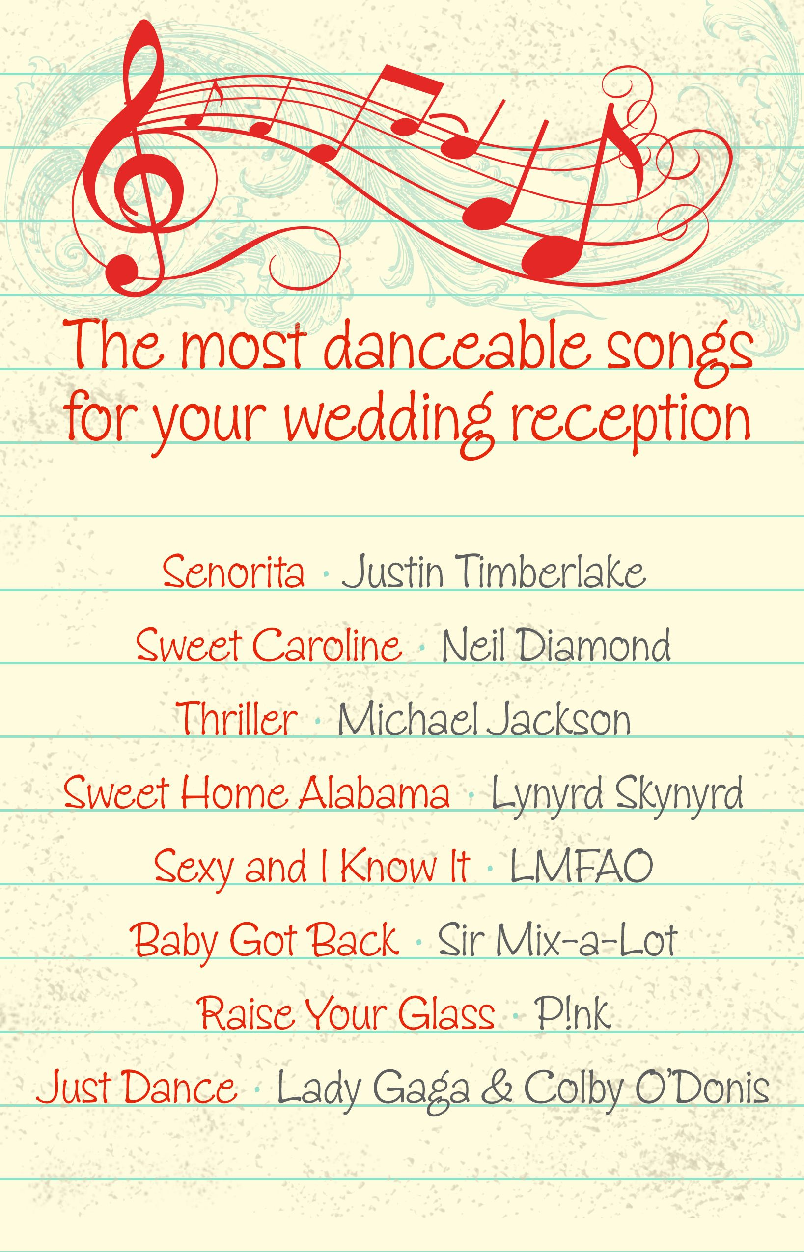 The Most Danceable Song Selections For Your Wedding Reception Songs