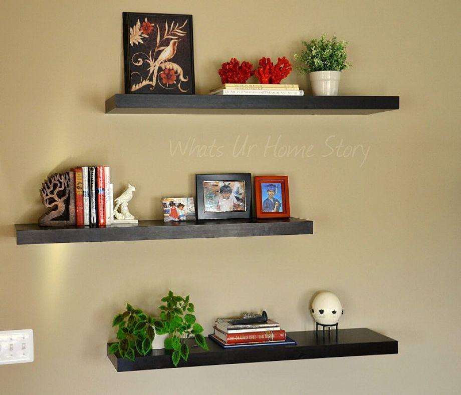 Black Wall Shelves Floating Shelf Decor Ikea Floating Shelves