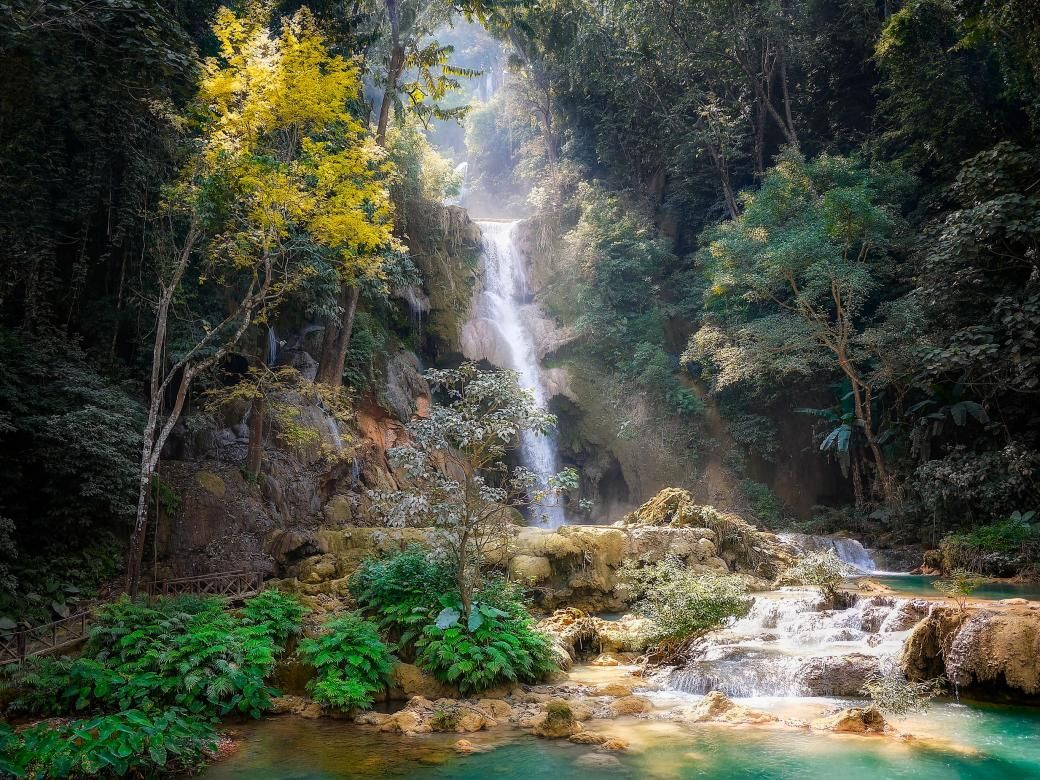 Beautiful landscape in Laos Asia  Puzzle online Puzzle online 3