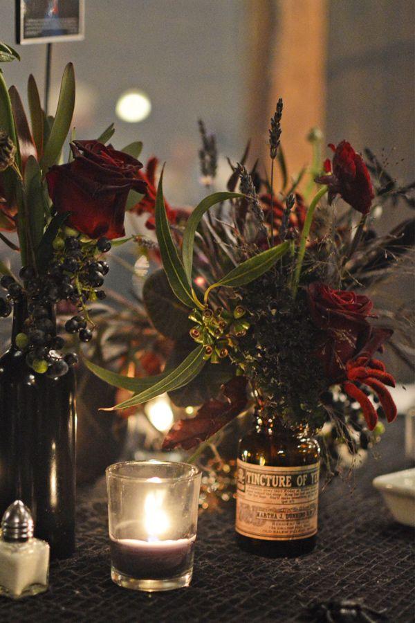 enchanted forest halloween wedding - Halloween Wedding Centerpieces