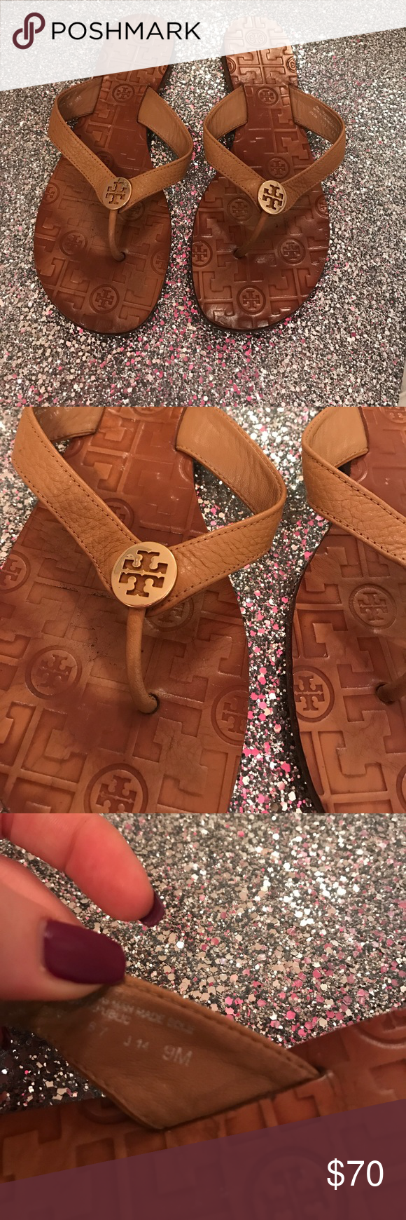Tory burch Thora flip flop Used condition but still lots of wear to be had! Tory Burch Shoes Sandals
