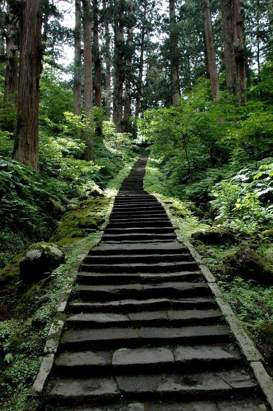Green Path, Mount Haguro,Tsuruoka, Yamagata, Japan